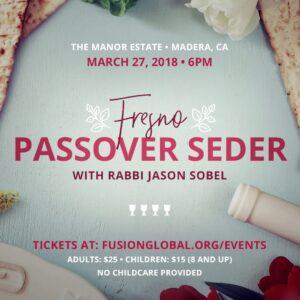 Passover Seder Fresno 2018