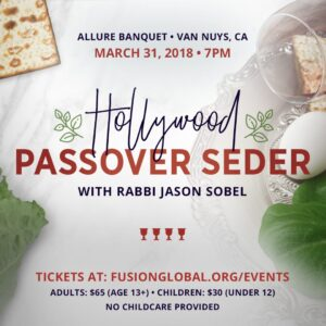 Passover Seder Hollywood 2018